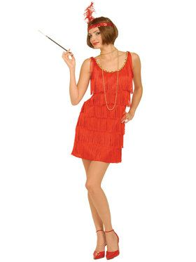 Red Flapper Adult Costume