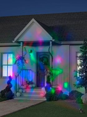 Red, Green, Blue Fire and Ice Projection Light
