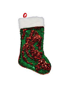 Red & Green Reversible Sequin Stocking