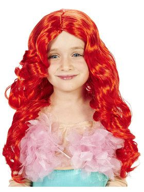 Child Mermaid Red Wig