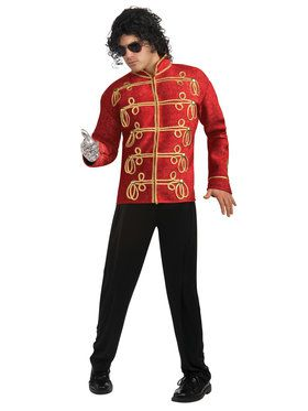 Red Military Jacket Deluxe Adult Michael Jackson Jacket