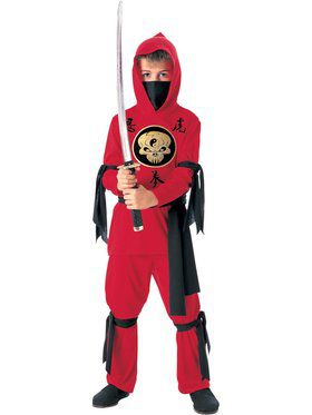 ninja child costume red
