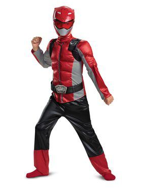 Red Ranger Beast Morpher Classic Muscle Child Costume