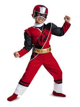 Red Ranger Ninja Steel Muscle Toddler Costume