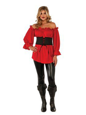 Red Renaissance Blouse Adult Costume