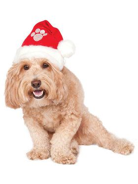 Red Santa Hat for Pets