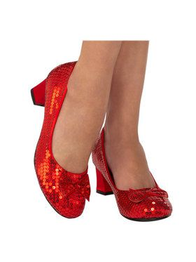 Adult Red Sequin Pump