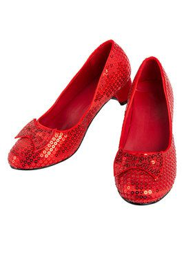Child Red Sequin Pump