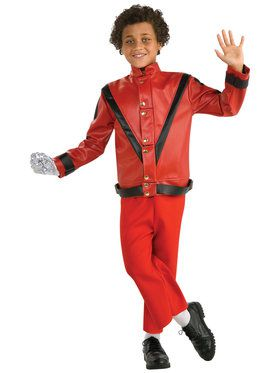 Red Thriller Deluxe Kids Michael Jackson Jacket