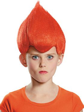 Red Troll Child Wig