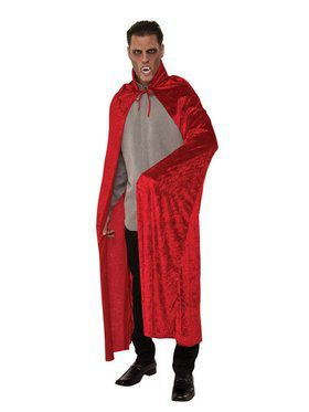 Red Velvet Dracula Cape Adult Costume