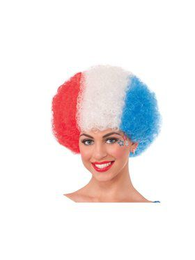 Afro - Red/White/Blue
