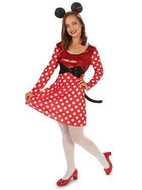 Red White Mouse Dress Adult Costume