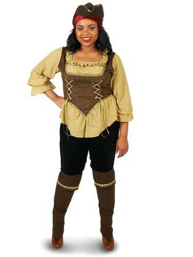 Adult Plus Renegade Pirate Queen Costume