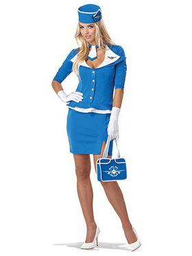Retro Stewardess Women's Costume