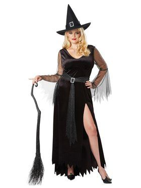 Plus Size Womens Rich Witch Costume
