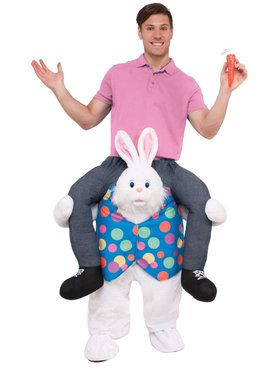 Ride an Easter Bunny Adult Costume
