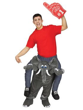 Ride an Elephant Adult Costume One-Size