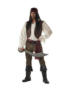 Adult Rogue Pirate Captain Costume