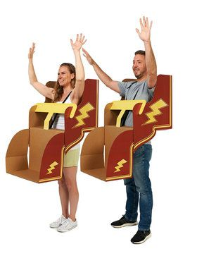 Roller Coaster DIY Cardboard Couples Costume