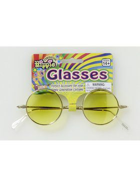 Round Glasses - Yellow Lenses