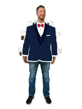 Royal Blue Paper Doll Suit Costume