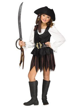 Rustic Pirate Maiden - Child Costume