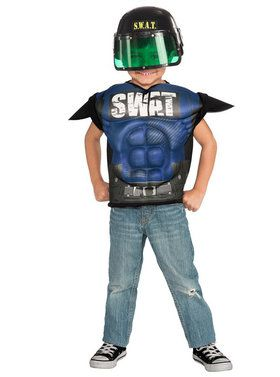 S.W.A.T Child Muscle Chest Shirt Set