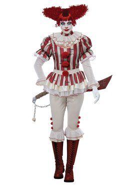 Womens Sadistic Clown Costume