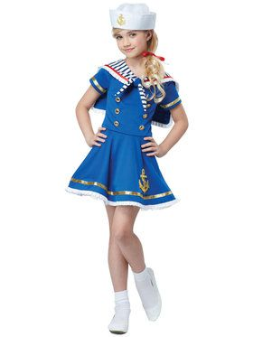 Sailor Girl Child Costume Small