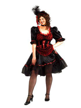 Saloon Girl Adult Plus Costume