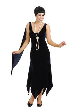 Sandy Speak Easy Flapper Adult Navy