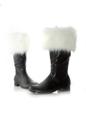 Santa Boots With Faux Fur Adult