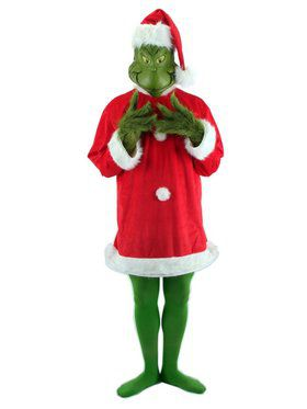 Santa Grinch Costume W/ Mask