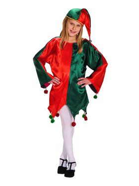 Satin Jingle Elf Child Costume