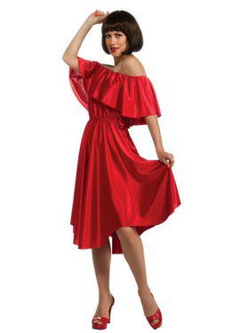 Adult Saturday Night Fever Red Dress