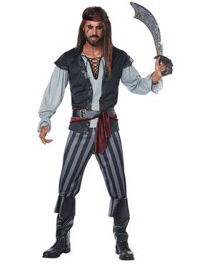 Scallywag Adult Pirate Men's Costume