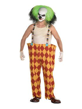 Suspender Hoop Pants for Scary Clown Costume