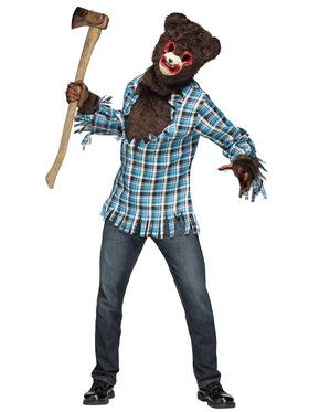 Scary Teddy Bear Costume For Adults One-Size