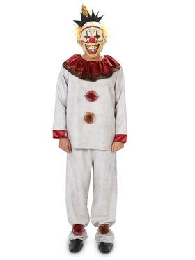 Scary the Carnival Clown Adult Costume With 2018 Halloween Masks