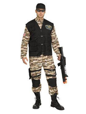 Seal Fighter Commando Men's Plus Costume