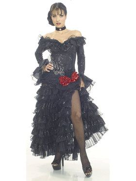 Senorita Black Costume for Adults