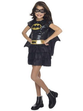 Sequin Toddler Batgirl Costume