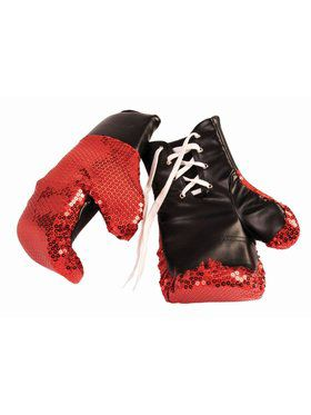 Sequin Boxing Glove Red