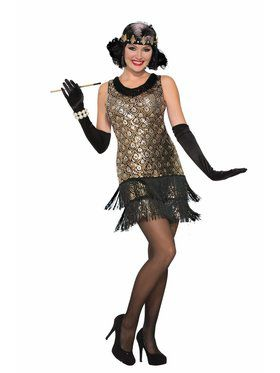 Sequin Roaring 20S Flapper - Adult Costume