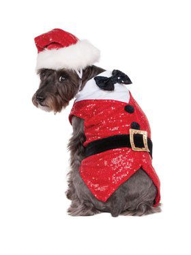 Sequin Santa Outfit Pet Costume