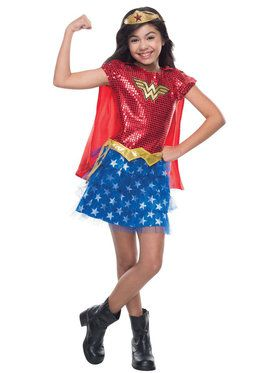 Toddler Sequin Wonder Woman Costume