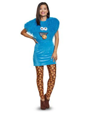 Sesame Street Cookie Monster Ladies Deluxe Adult Costume