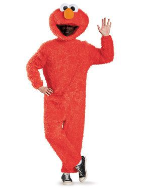 Sesame Street Elmo Plush Prestige Costume For Adults