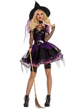 Amethyst Pentagram Sexy Witch Costume